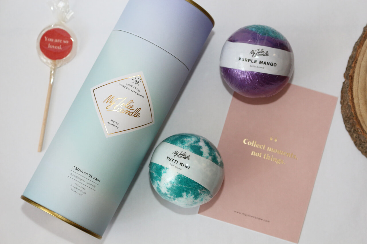 My Jolie Candle Coffret Boules de bain Pretty Moments