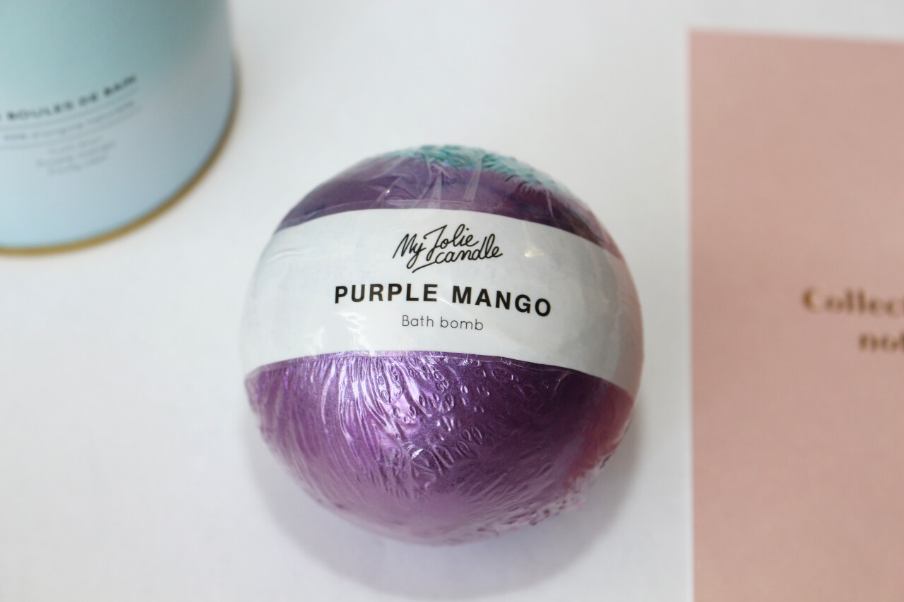 Purple Mango Bath Bomb My Jolie Candle